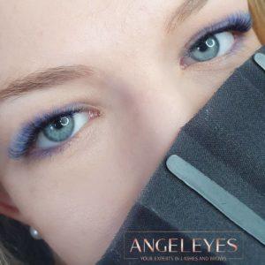 Blue Aquarell Lashes
